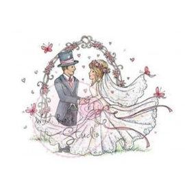 Wild Rose Studio`s Transparent stamp, wedding