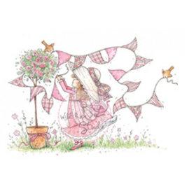 Wild Rose Studio`s Timbre transparent, Annabelle avec des banderoles