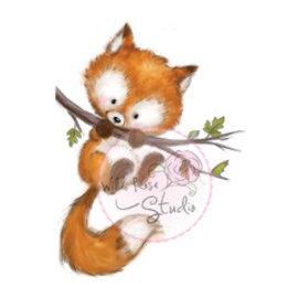 Wild Rose Studio`s Selo transparente, Fox on Branch