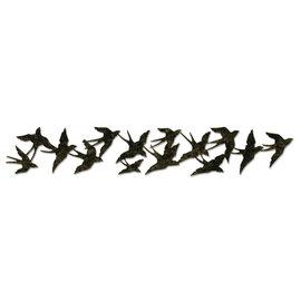 Sizzix Perfurando gabarito, Tim Holtz, Alterações coleção, vôo do pássaro