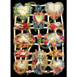 Bilder, 3D Bilder und ausgestanzte Teile usw... Glanzbilder Lose, Blumen