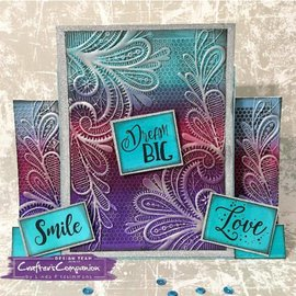 "Crafter's Companion 3D Embossing Folder , Format 5"" x 7"" (ca. 13,0 x 18 cm), Ornate Lace"