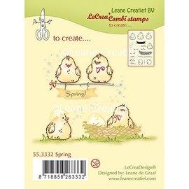 Leane Creatief - Lea'bilities Selo transparente, pintinhos, ovos e ninho