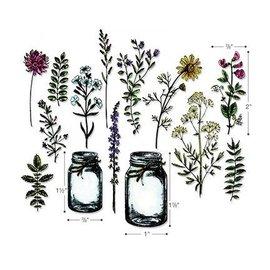 Sizzix Couper et gaufrer des pochoirs avec des motifs de timbres: Tim Holtz - Framelits, Fleurs