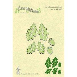 Leane Creatief - Lea'bilities Stanzschablonen: Blätter und Nüsse