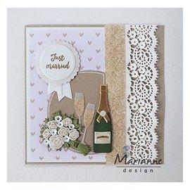 Marianne Design Corte y estampado de plantillas: Champagne