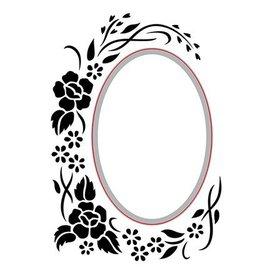 Nellie Snellen découpage et gaufrage Pochoirs: Oval-floral