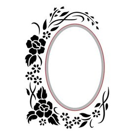 Nellie Snellen skæring og prægning Stencils: Oval-blomstret