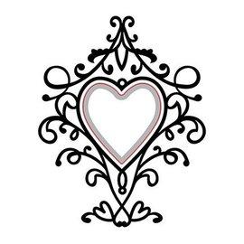 Nellie Snellen Corte e em relevo Stencils: Heart-swirls