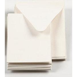 KARTEN und Zubehör / Cards 10 mini-kort + 10 kuverter, off white, kort str 7,5x10,5 cm