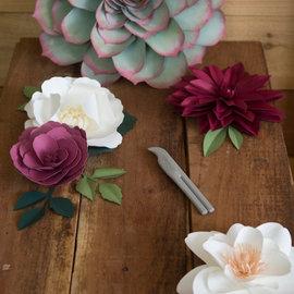 Sizzix Crease & Curl Tool, zweiseitiges Gerät für die Herstellung von Blüten