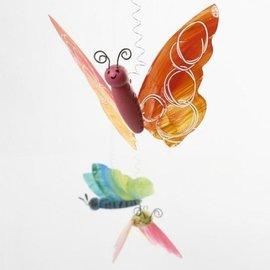 Objekten zum Dekorieren / objects for decorating Schmetterling Bastel Set: 2 Schmetterlingskörper + 4  Schmetterlingsflügel