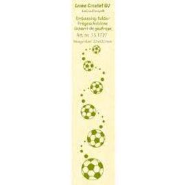 Leane Creatief - Lea'bilities und By Lene Embossingschablone border: Fussballen