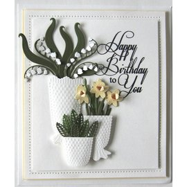 CREATIVE EXPRESSIONS und COUTURE CREATIONS cutting and embossing Stencils: Lily of the Valley