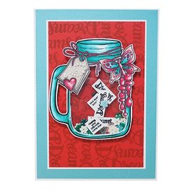 CREATIVE EXPRESSIONS und COUTURE CREATIONS A5 Transparent Stempel: Jar of Dreams