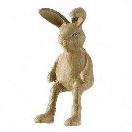 Objekten zum Dekorieren / objects for decorating figura PappArt liebre Kantenhocker, tamaño: 7,5 x 19 x 14,5 cm