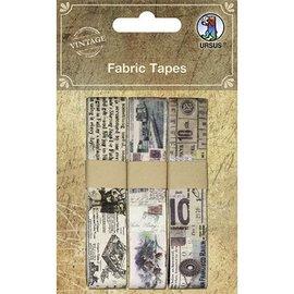 Designer Papier Scrapbooking: 30,5 x 30,5 cm Papier Tapes Scrapbooking da tela do vintage, auto-adesivas, 3 diversificada Motive