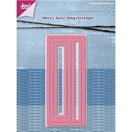 Joy!Crafts / Hobby Solutions Dies Stanzschablone: Mery's Basic, Lange rechtecke mit Stitchlinien
