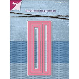 Joy!Crafts / Jeanine´s Art, Hobby Solutions Dies /  Joy Crafts, coupe et gaufrage modèle: Mery's Basic - Long rectangle