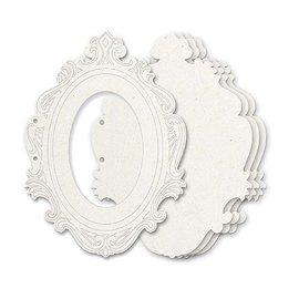 Holz, MDF, Pappe, Objekten zum Dekorieren Den Allbum-cuts spånplade, 5 dekorative ramme, format 23 x 17 cm + 2 ringe Ca. 5cm