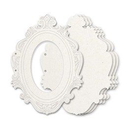Holz, MDF, Pappe, Objekten zum Dekorieren O Aglomerado Allbum-cortes, 5 moldura decorativa, formato de 23 x 17 cm + 2 anéis Ca. 5 centímetros
