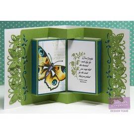 Die'sire modelo de corte e relevo: borda / bordas com borboletas