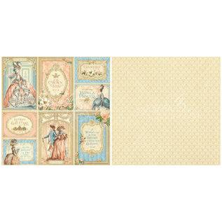 GRAPHIC 45 Gilded Lilly Collection SET, Designer Papier 30,5 x 30,5cm + Blanco Karten Set - die 5 letzte Sets