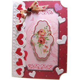 Joy!Crafts / Jeanine´s Art, Hobby Solutions Dies /  Cortando e gravando em relevo Modelo: Border with hearts