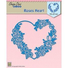 Nellie Snellen Plantilla de corte y estampado: corazón de rosas