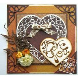 Joy!Crafts / Jeanine´s Art, Hobby Solutions Dies /  Plantilla de corte y estampado: corazones