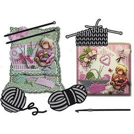 Marianne Design Plantilla de corte y estampado: tejido y lana
