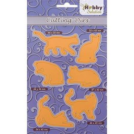 Marianne Design cutting and Embossing template: 6 Pussycats