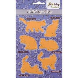 Marianne Design Snij- en embossing Sjablone: 6 Pussycats