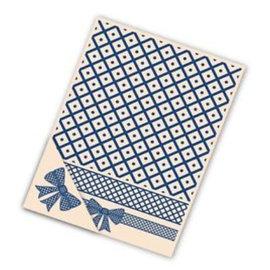Tattered Lace Card Embossing Folder, 4 pct set, Lattice Bow