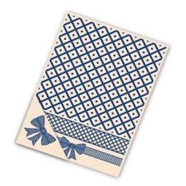 Tattered Lace Cartão pasta Gravação, 4 pc conjunto, Malha Bow