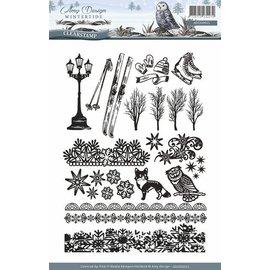 AMY DESIGN Gennemsigtig stempel: Natur, med 24 flotte frimærker
