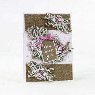 Tonic timbre en caoutchouc: Etiquette avec fleur