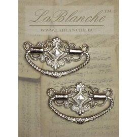 Embellishments / Verzierungen Metall  Griffe elegant , silber, 2 Stück