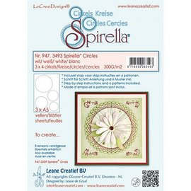 Leane Creatief - Lea'bilities Stanzbogen, 12 circles, 4 sizes, instructions and 6 patterns