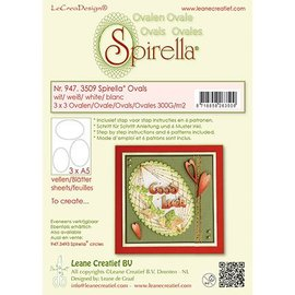 Leane Creatief - Lea'bilities Stanzbogen, 12 Ovale, 4 sizes, instructions and 6 patterns