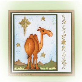 Leane Creatief - Lea'bilities Punching and embossing template: Camel