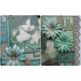 Leane Creatief - Lea'bilities und By Lene cutting and embossing templates: Multi die flower