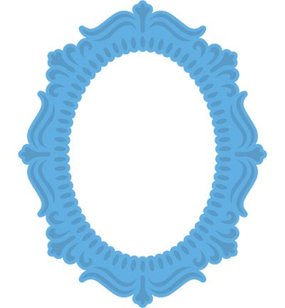 Cutting And Embossing Template Oval Frame 11 X 16 Cm Hobby