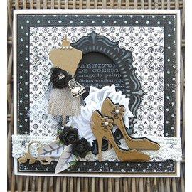 Marianne Design Molde de corte e gravar: Moldura oval, 11 x 16 cm