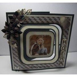 """Nellie Snellen corte e em relevo Stencils: Multi Frame quadrado pontilhado """"max. 10,2"""