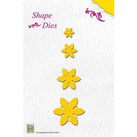 Nellie Snellen Moldes de corte e relevo: flores, tamanho diferente