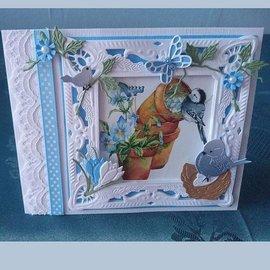 Marianne Design Ponsen sjabloon: vierkant Petra's met nest