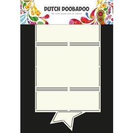 Dutch DooBaDoo A4 Plastik Schablone: Card Art Stern
