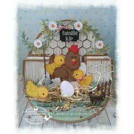 Marianne Design snij en embossing Mall: Moeder kip en kuikens