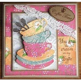 Designer Papier Scrapbooking: 30,5 x 30,5 cm Papier papel Designer, A5, Café la Patisserie